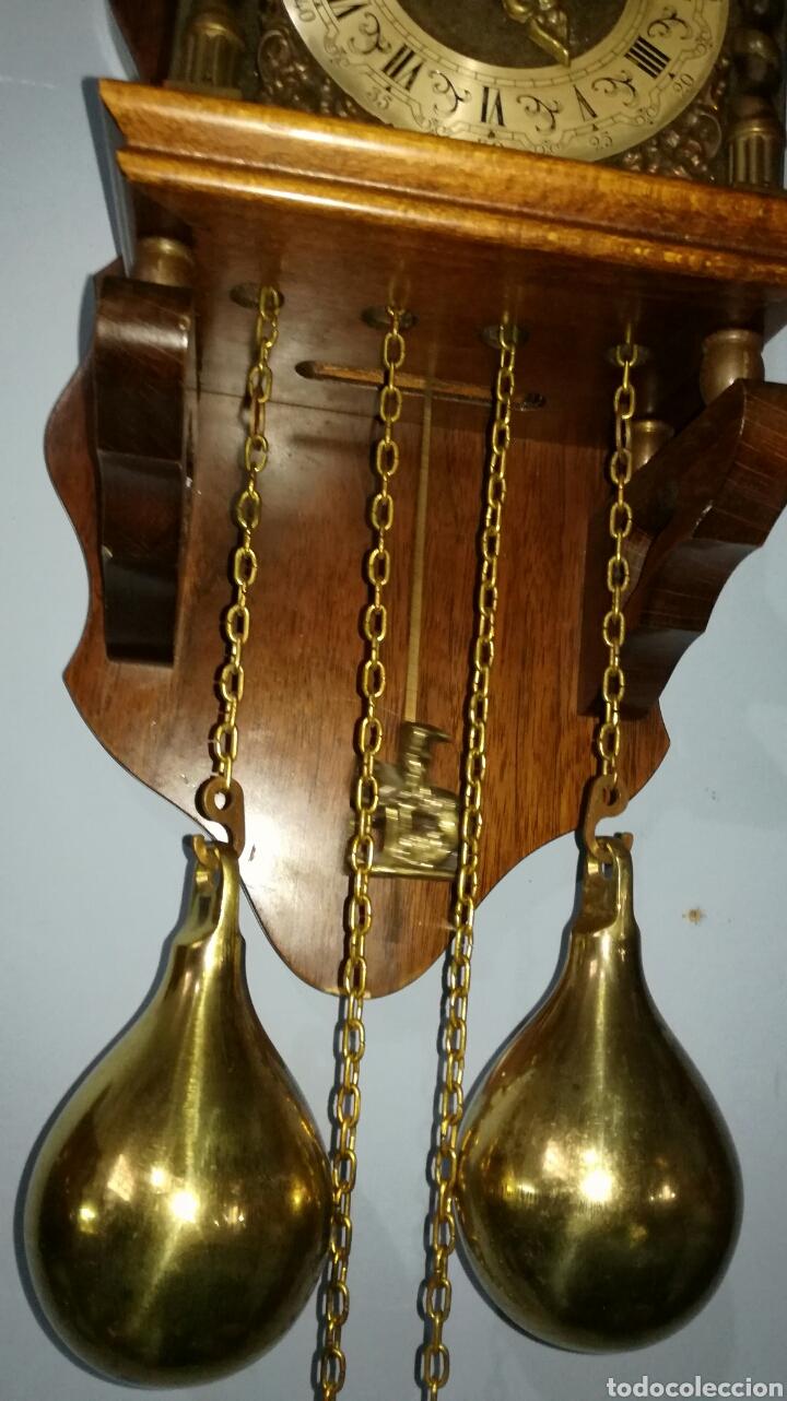 Relojes de pared: Reloj holandés funcionando muy bonito con caja de roble - Foto 4 - 144120086