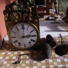 Relojes de pared: ¡¡GRAN OFERTA ! ANTIGUO RELOJ MOREZ DE PESAS -AÑO 1880-REPITE HORAS-COMPLETO Y FUNCIONAL. Lote 144449358