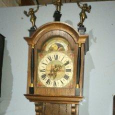 Relojes de pared: RELOJ HOLANDÉS FUNCIONANDO CON CAJA DE ROBLE EN BUEN ESTADO. Lote 144423750