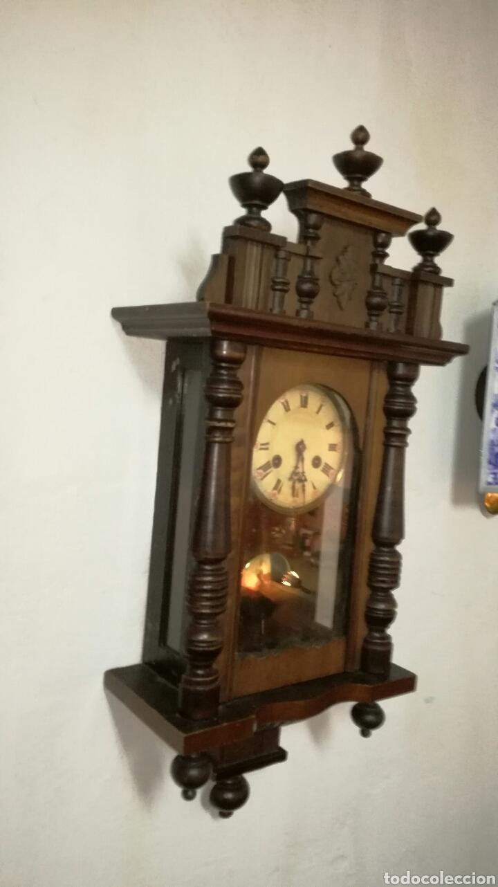 Relojes de pared: Reloj de pared funcionando con caja de madera - Foto 2 - 145625605