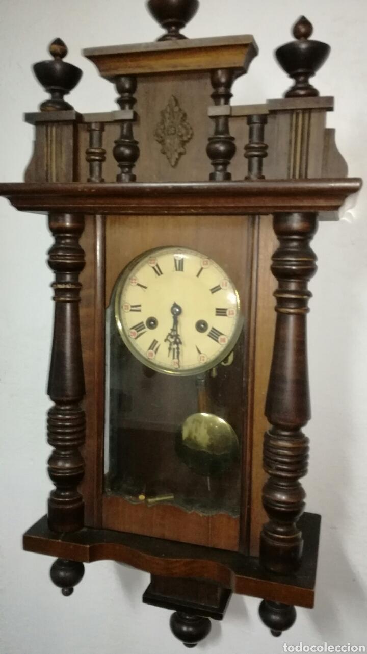 Relojes de pared: Reloj de pared funcionando con caja de madera - Foto 3 - 145625605