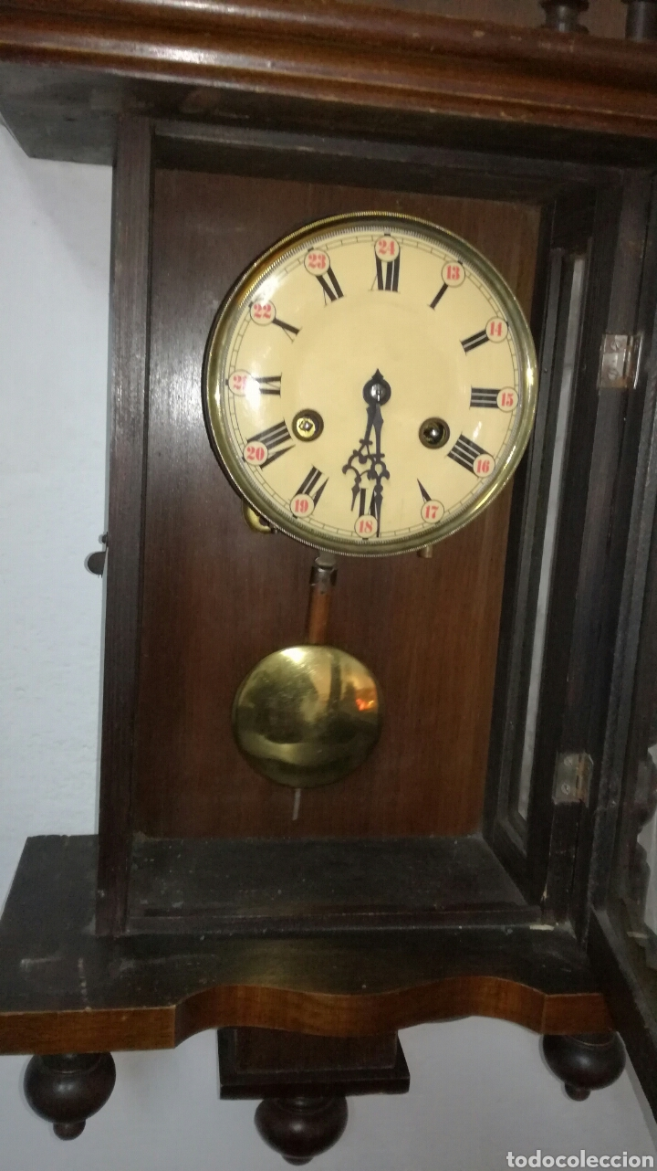 Relojes de pared: Reloj de pared funcionando con caja de madera - Foto 4 - 145625605