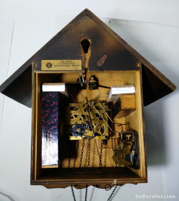 Relojes de pared: Reloj de Cuco Musical de la Selva Negra, mecánico, madera tallada - Foto 6 - 145742542