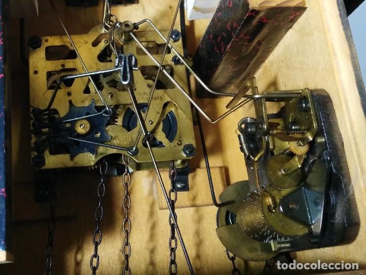 Relojes de pared: Reloj de Cuco Musical de la Selva Negra, mecánico, madera tallada - Foto 7 - 145742542