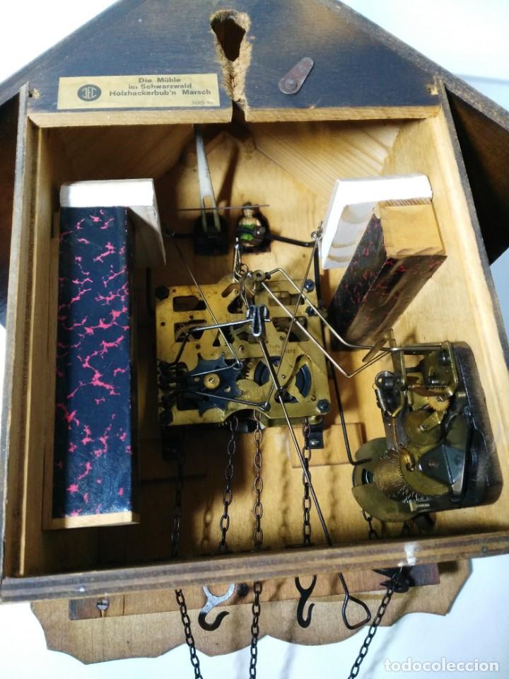 Relojes de pared: Reloj de Cuco Musical de la Selva Negra, mecánico, madera tallada - Foto 8 - 145742542