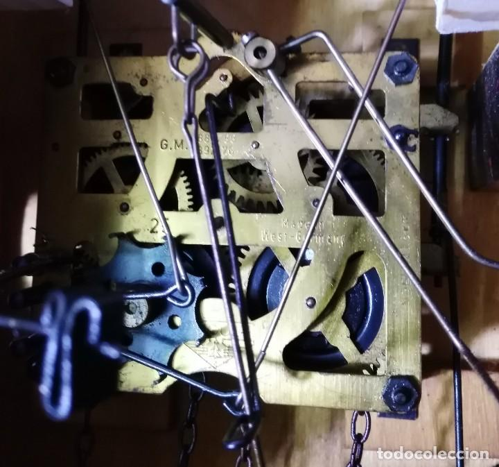 Relojes de pared: Reloj de Cuco Musical de la Selva Negra, mecánico, madera tallada - Foto 10 - 145742542