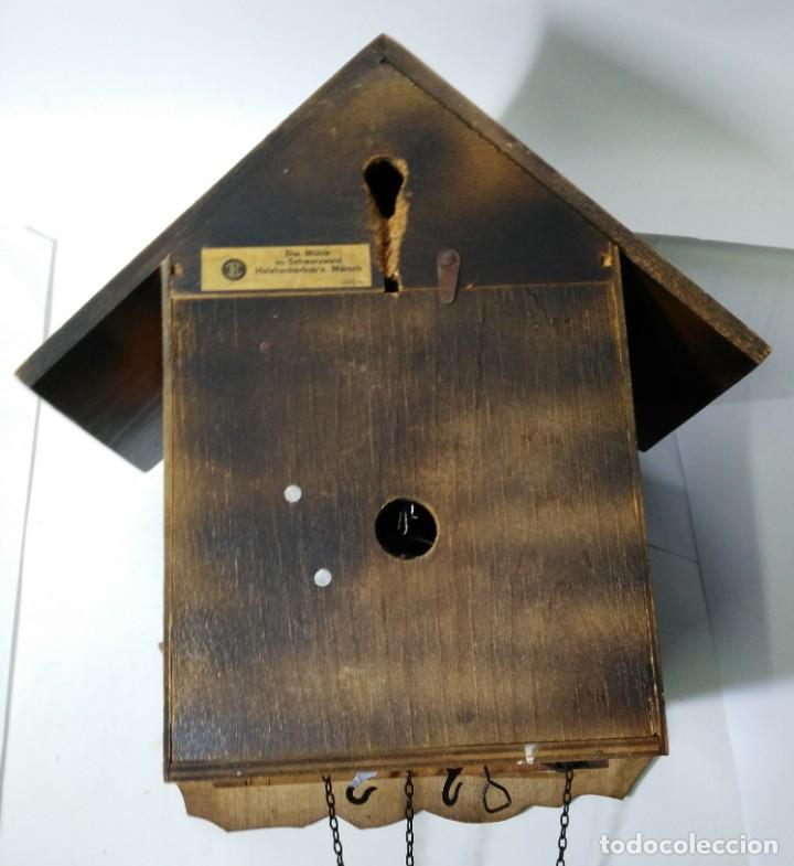 Relojes de pared: Reloj de Cuco Musical de la Selva Negra, mecánico, madera tallada - Foto 11 - 145742542