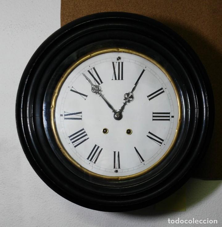RELOJ OJO DE BUEY - MAQUINARIA PARIS - C'1890 (Relojes - Pared Carga Manual)