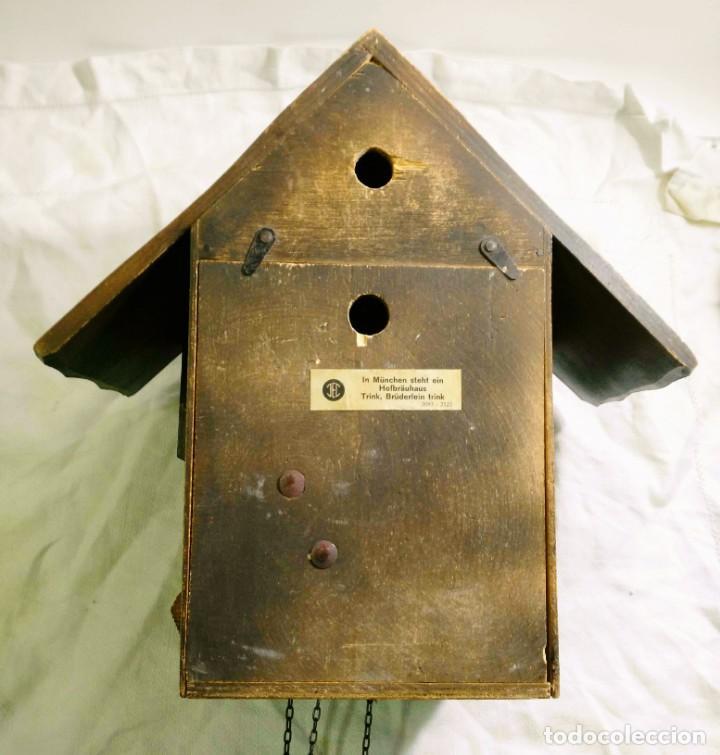 Relojes de pared: Reloj mecánico de Cuco de la Selva Negra, carrusel musical, madera tallada - Foto 6 - 145855302