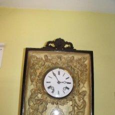 Relojes de pared: PRECIOSO Y ANTIGUO RELOJ IMPERIO VIENES- AÑO 1860- FUNCIONA PERFECTAMENTE. Lote 147181074