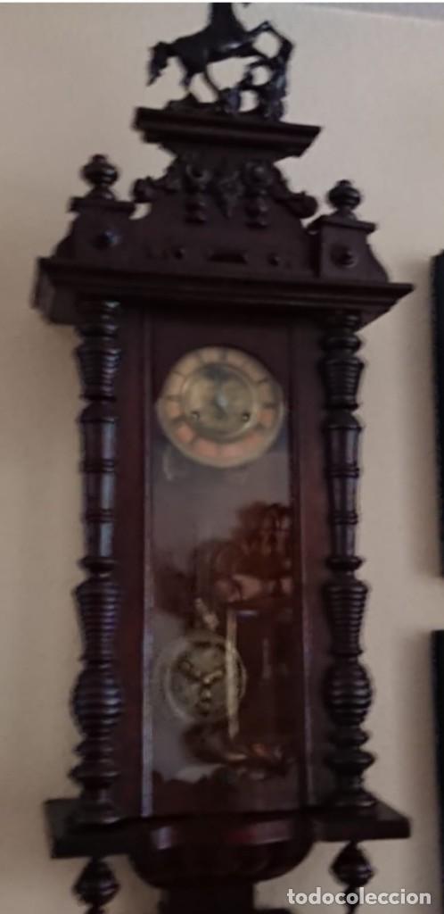 Relojes de pared: ANTIGUO RELOJ PÉNDULO JUNGHAS 1900 GRAN TAMAÑO - Foto 3 - 147711798
