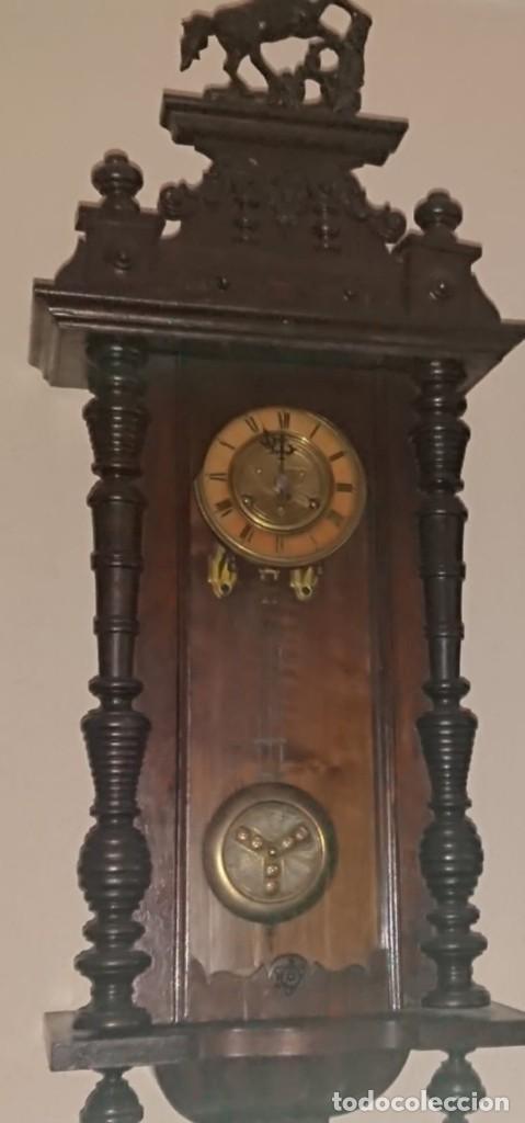 ANTIGUO RELOJ PÉNDULO JUNGHAS 1900 GRAN TAMAÑO (Relojes - Pared Carga Manual)