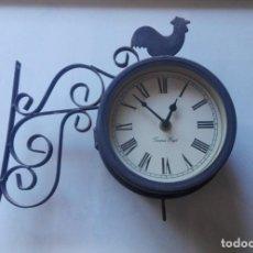 Relojes de pared: RELOJ DE PARED DE ESTACIÓN FERROVIARIA TEMPUS FUGIT DOBLE CARA CON TERMÓMETRO.. Lote 147939302