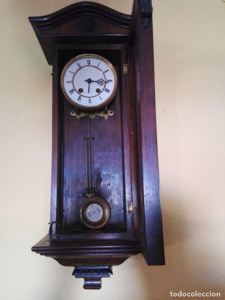 Relojes de pared: RELOJ DE PARED FINALES DEL siglo XIX R=A - Foto 3 - 148109598