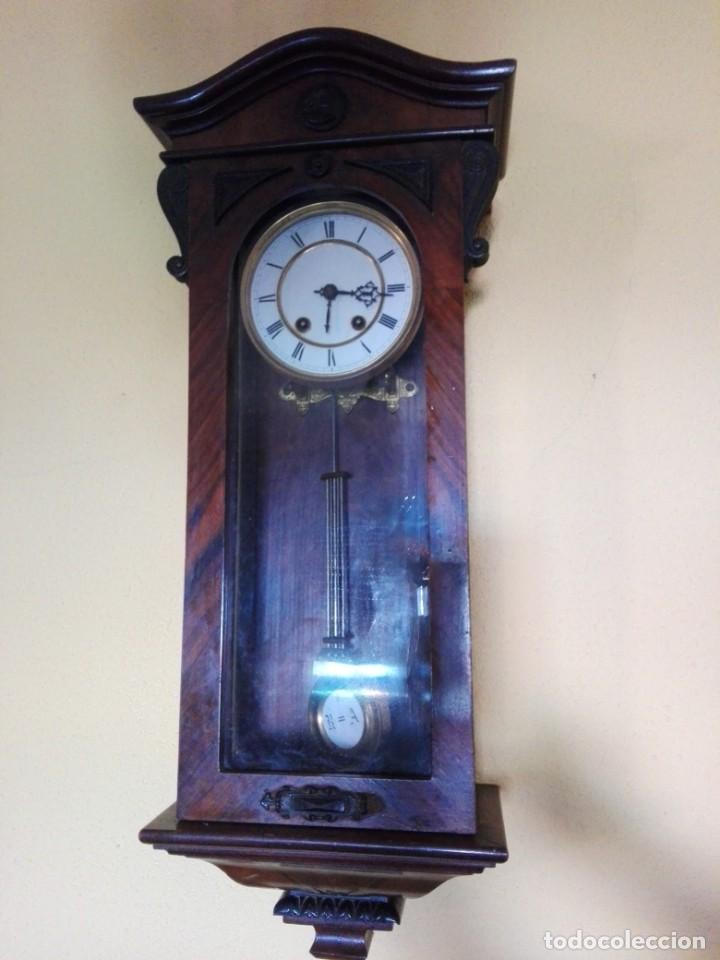Relojes de pared: RELOJ DE PARED FINALES DEL siglo XIX R=A - Foto 4 - 148109598