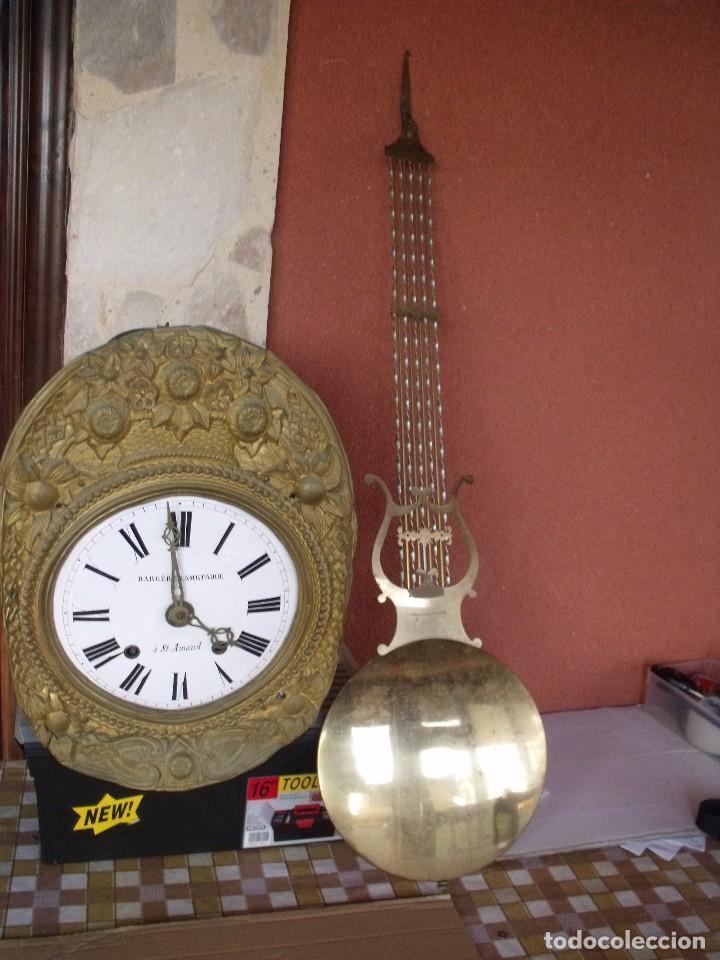 ¡¡GRAN OFERTA!! ANTIGUO RELOJ PESAS MOREZ LIRA -AÑO 1880-REPITE HORAS- LOTE 152 (Relojes - Pared Carga Manual)