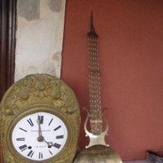 Relojes de pared: ¡¡GRAN OFERTA!! ANTIGUO RELOJ PESAS MOREZ LIRA -AÑO 1880-REPITE HORAS- LOTE 152. Lote 148196030