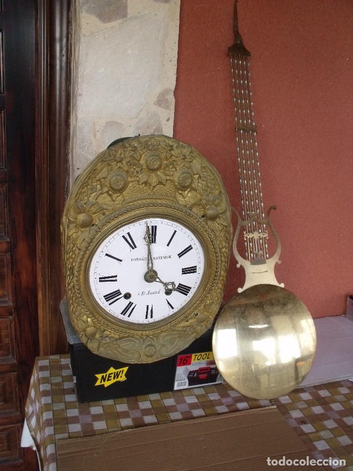 Relojes de pared: ¡¡GRAN OFERTA!! Antiguo RELOJ PESAS MOREZ LIRA -año 1880-REPITE HORAS- LOTE 152 - Foto 2 - 148196030