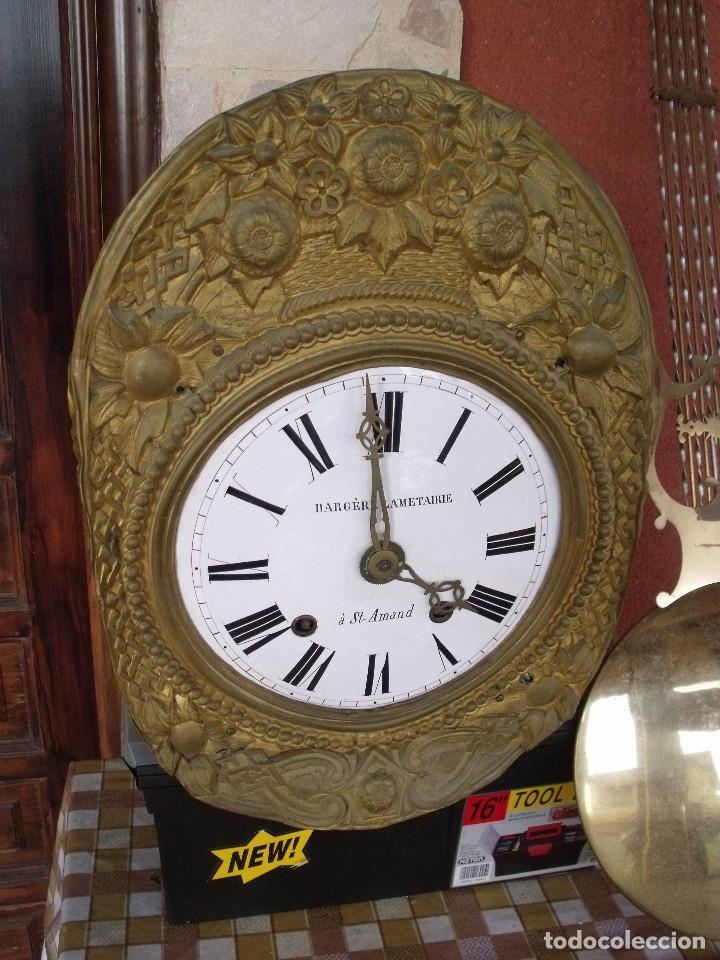 Relojes de pared: ¡¡GRAN OFERTA!! Antiguo RELOJ PESAS MOREZ LIRA -año 1880-REPITE HORAS- LOTE 152 - Foto 3 - 148196030