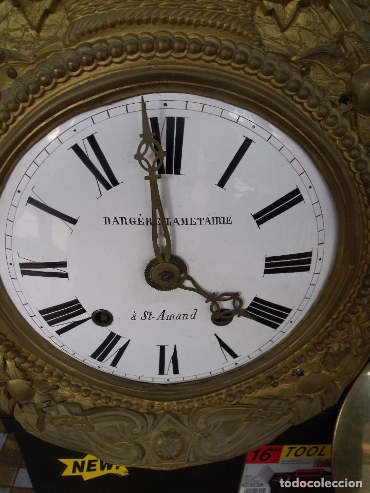Relojes de pared: ¡¡GRAN OFERTA!! Antiguo RELOJ PESAS MOREZ LIRA -año 1880-REPITE HORAS- LOTE 152 - Foto 4 - 148196030