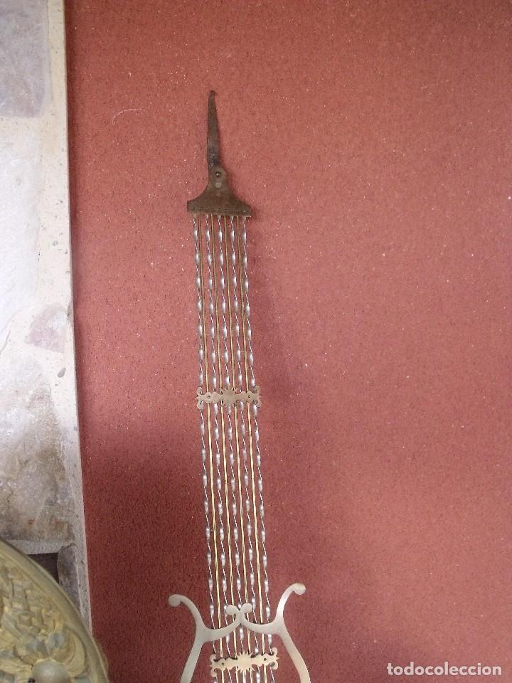 Relojes de pared: ¡¡GRAN OFERTA!! Antiguo RELOJ PESAS MOREZ LIRA -año 1880-REPITE HORAS- LOTE 152 - Foto 7 - 148196030