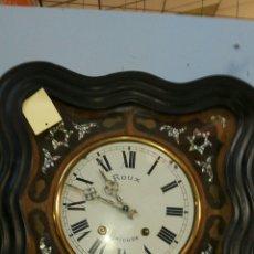 Relojes de pared: RELOJ DE OJO DE BUEY CON MAQUINARIA MOREZ FUNCIONANDO. Lote 209582705