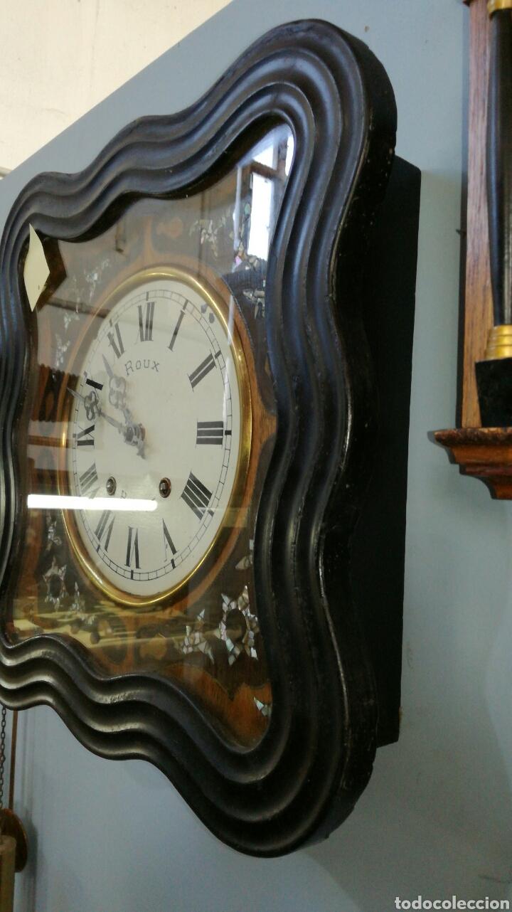 Relojes de pared: Reloj de ojo de buey con maquinaria morez funcionando - Foto 2 - 147985669