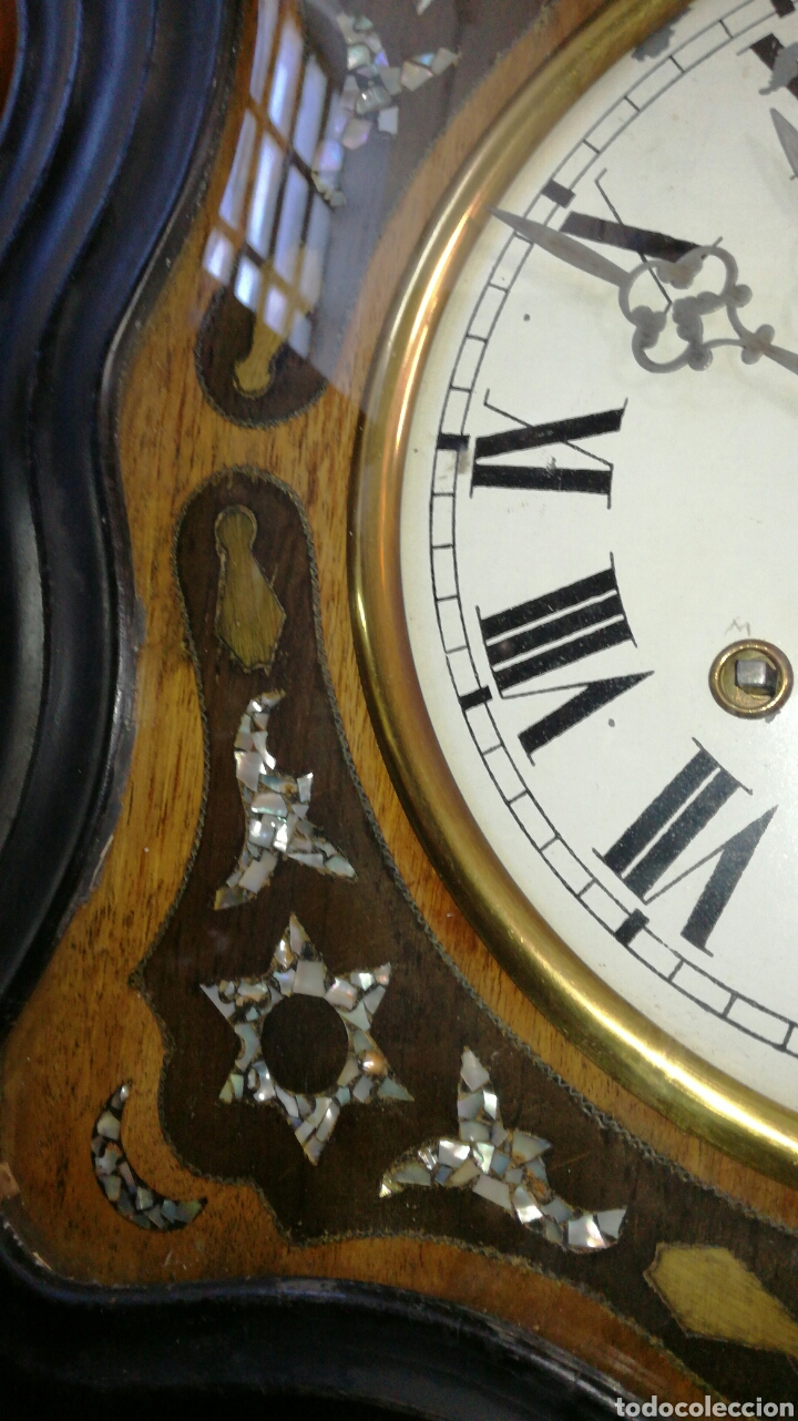 Relojes de pared: Reloj de ojo de buey con maquinaria morez funcionando - Foto 3 - 147985669