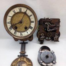 Relojes de pared: ANTIGUAS MAQUINARIAS RELOJ A CUERDA.. Lote 148537090