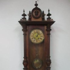 Relojes de pared: ANTIGUO RELOJ DE PARED - JUNGHANS, ALEMANIA - COMPLETO - FUNCIONA - FINALES S. XIX. Lote 149357014