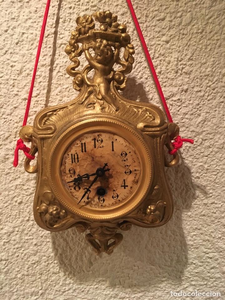 RELOJ PARED A CUERDA MODERNISTA ALEMÁN FUNCIONA (Relojes - Pared Carga Manual)