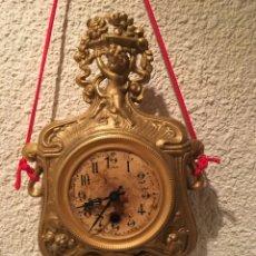 Relojes de pared: RELOJ PARED A CUERDA MODERNISTA ALEMÁN FUNCIONA. Lote 149385368