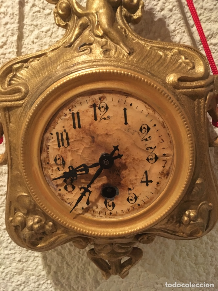 Relojes de pared: RELOJ PARED A CUERDA MODERNISTA ALEMÁN FUNCIONA - Foto 3 - 149385368