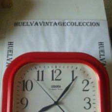Relojes de pared: RELOJ DE PARED, IMOTO, ( 25'5×25'5 CM ). FUNCIONANDO. Lote 149671618