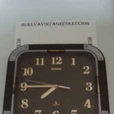 Relojes de pared: RELOJ DE PARED , CITIZEN QUARTZ, 31,5×30 CM. ( FUNCIONANDO ). Lote 150292608