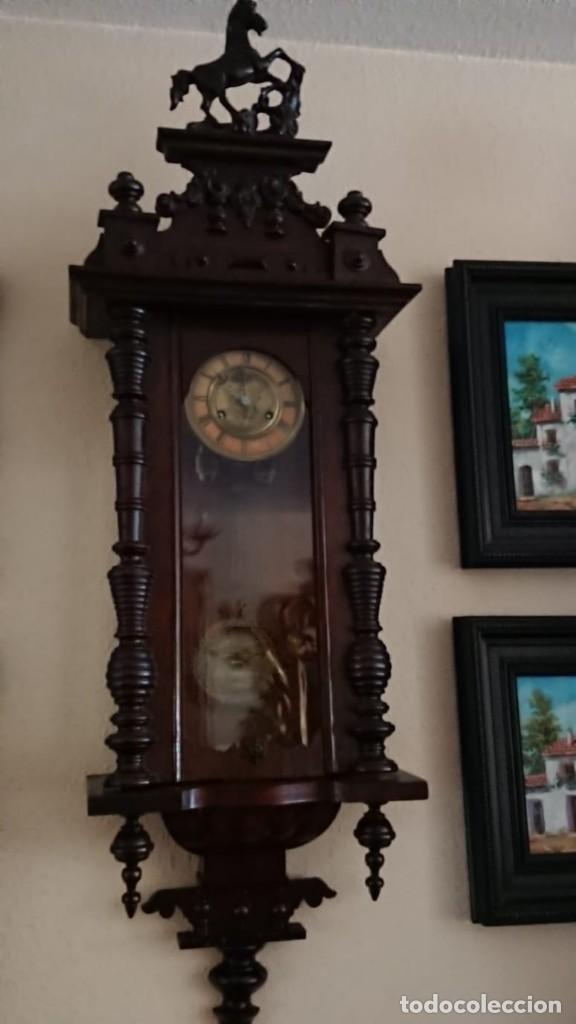 Relojes de pared: ANTIGUO RELOJ PÉNDULO JUNGHAS 1900 GRAN TAMAÑO - Foto 2 - 147711798