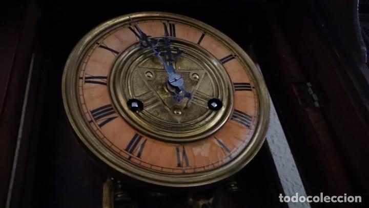 Relojes de pared: ANTIGUO RELOJ PÉNDULO JUNGHAS 1900 GRAN TAMAÑO - Foto 6 - 147711798