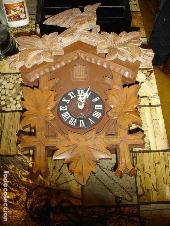 BONITO RELOJ DE CUCO TAMANO GRANDE ESTADO DE MARCHA SOLO UNA LIMPIEZA (Relojes - Pared Carga Manual)
