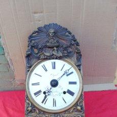 Relojes de pared: ANTIGUO RELOJ MOREZ IMPECABLE FRONTAL MUY DETALLADO ESFERA FIRMADA SIGLO XIX. Lote 151103065