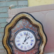 Relojes de pared: ANTIGUO RELOJ OJO DE BUEY CON INCRUSTACIONES DE NÁCAR SIGLO XIX. Lote 151103540