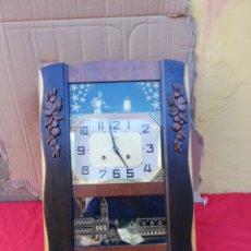 Relojes de pared: IMPRESIONANTE RELOJ ANTIGUO AUTÓMATA CON CERTIFICADO IMPECABLE. Lote 152591668