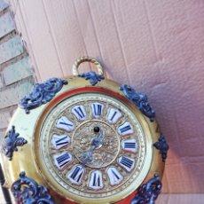 Relojes de pared: ESPECTACULAR Y RARO RELOJ GLOBO DE PARED FRANCÉS EN BRONCE MUY DETALLADO SIGLO XIX. Lote 152591753