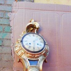 Relojes de pared: IMPRESIONANTE RELOJ CARTEL DE MADERA SIGLO XIX. Lote 152591776