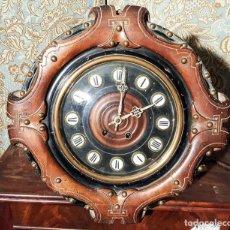 Relojes de pared: MAGNÍFICO RELOJ PARED ISABELINO ,OJO DE BUEY. C1880, RELOJERIA FCO. MENSA, BARCELONA. Lote 151210290