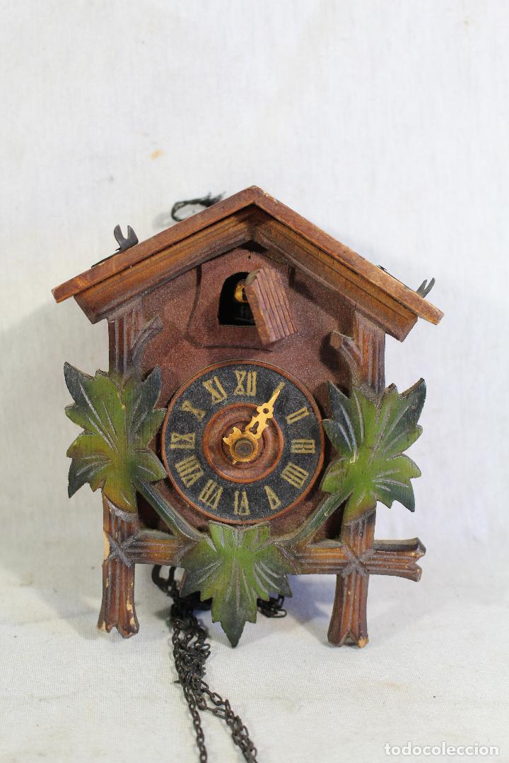 RELOJ CUCO DE MADERA PARA RESTAURAR (Relojes - Pared Carga Manual)