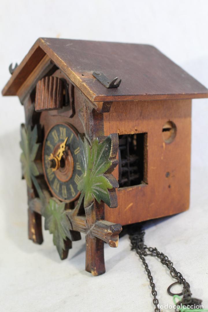 Relojes de pared: reloj cuco de madera para restaurar - Foto 2 - 153902316