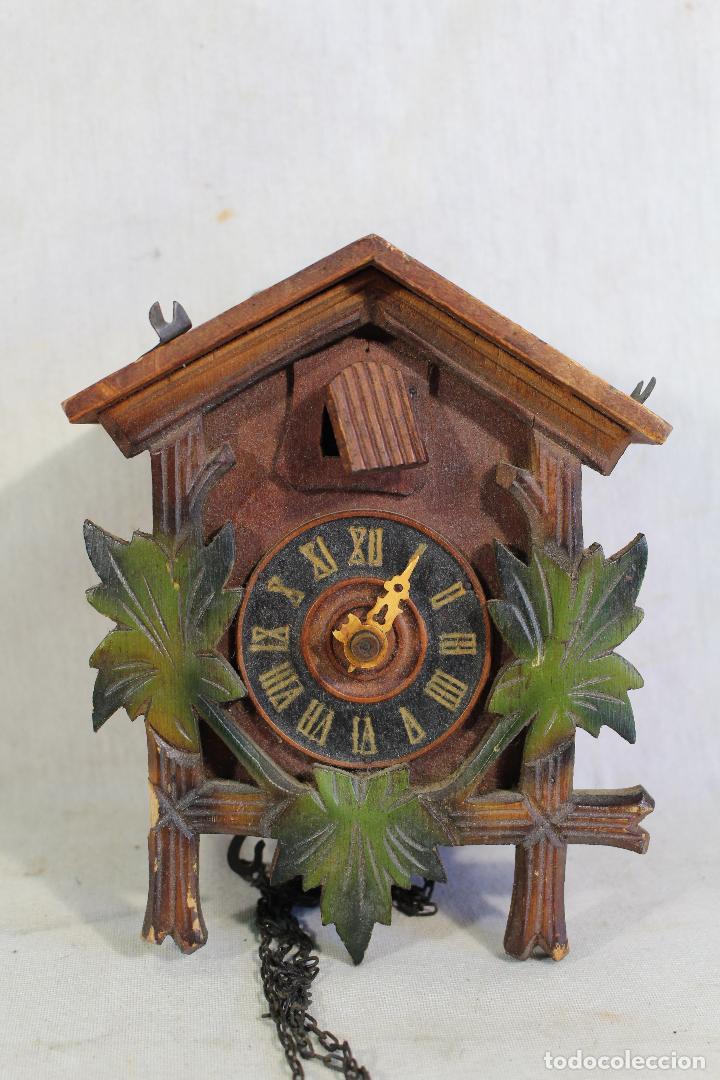 Relojes de pared: reloj cuco de madera para restaurar - Foto 3 - 153902316