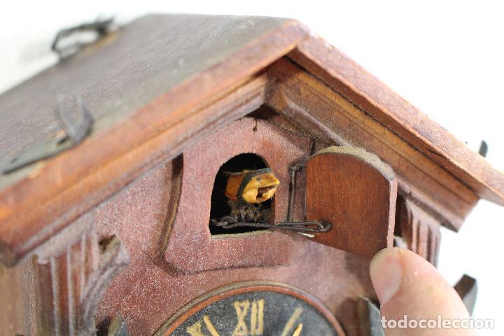 Relojes de pared: reloj cuco de madera para restaurar - Foto 4 - 153902316