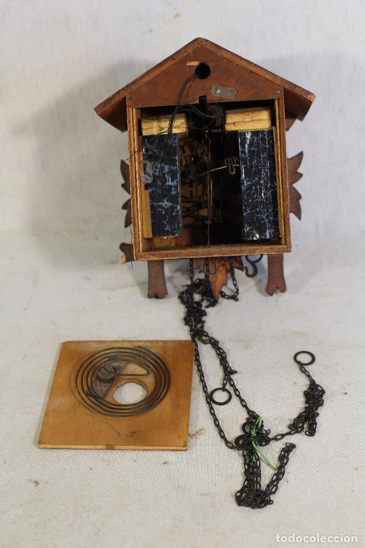 Relojes de pared: reloj cuco de madera para restaurar - Foto 6 - 153902316