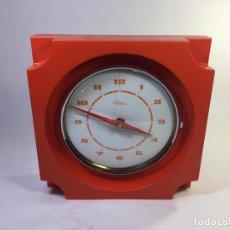 Relojes de pared: RELOJ DE PARED ARANCO BY DIAMANTINI E DOMENICONI ITALIA 1973 NUEVO A ESTRENAR 21,50X21,50 CM, PREMI. Lote 151671609